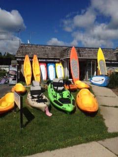 kayak shopping in Door County