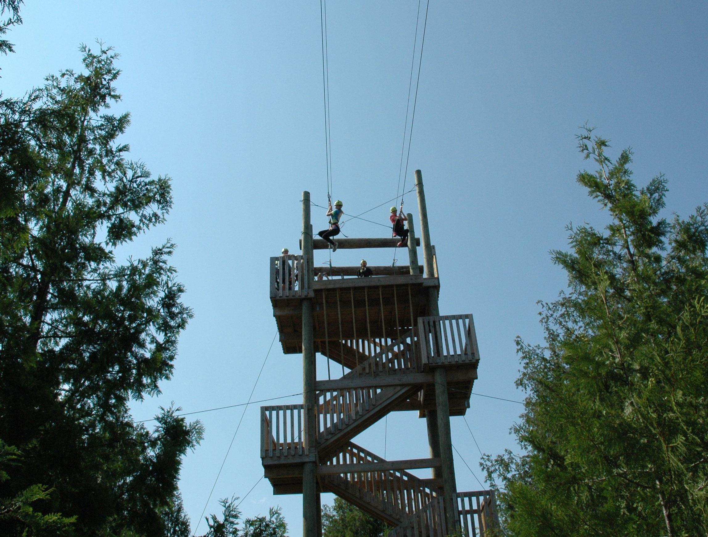 Zip Line Tours Lakeshore Adventures Door County Zip Lining