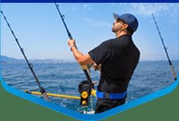 guy fishing in door county