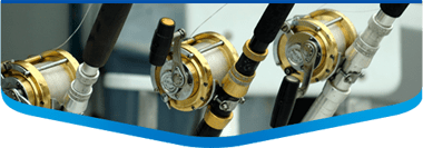 fishing reels on charter
