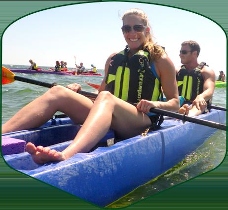 corporate group outing kayak tour