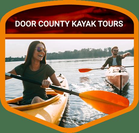 man and woman on kayak tour
