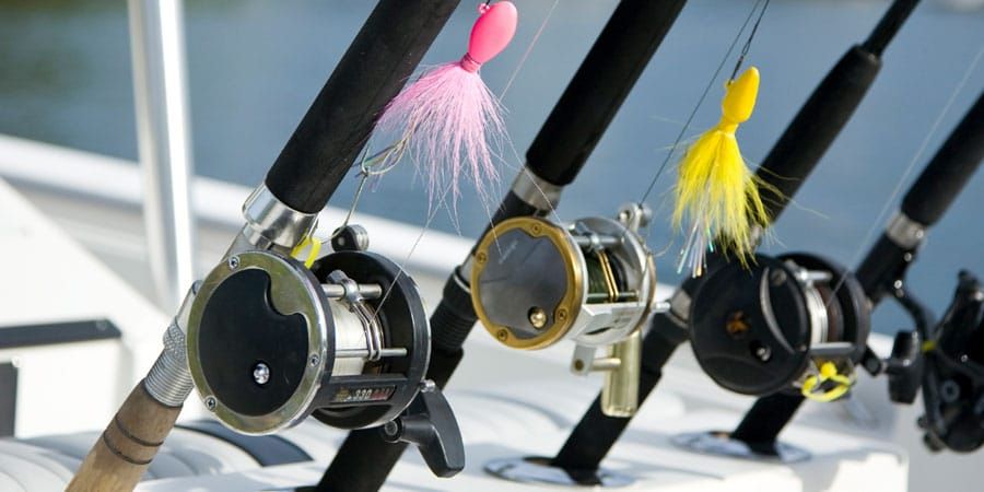 charter fishing and salmon fishing rods reels lures door county