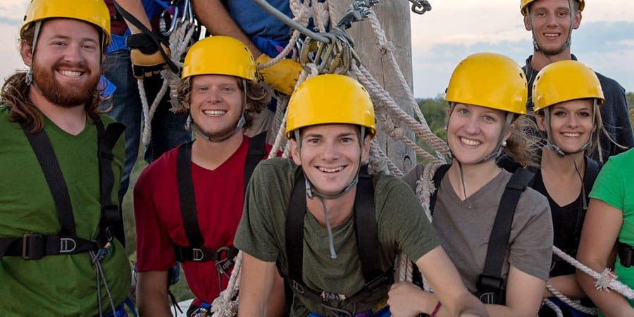 group and corporate ziplining outings