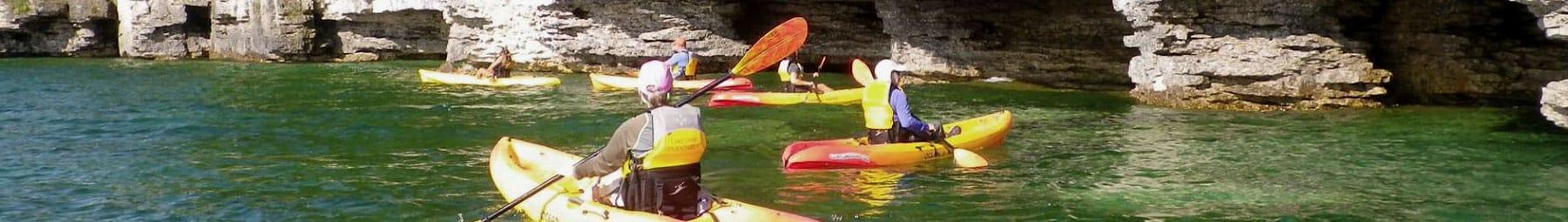 kayak cave tour door county