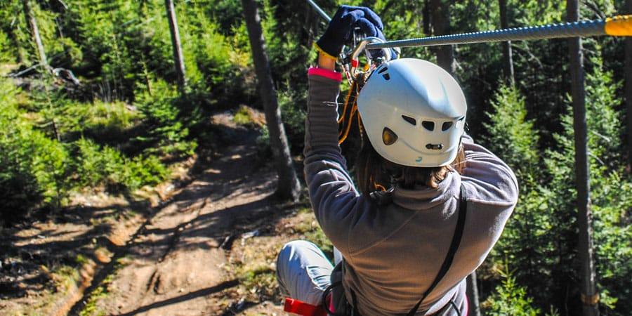 ziplining trips in door county