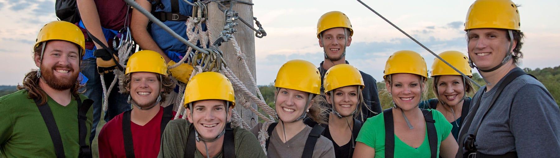 employee ziplining trips in door county wisconsin