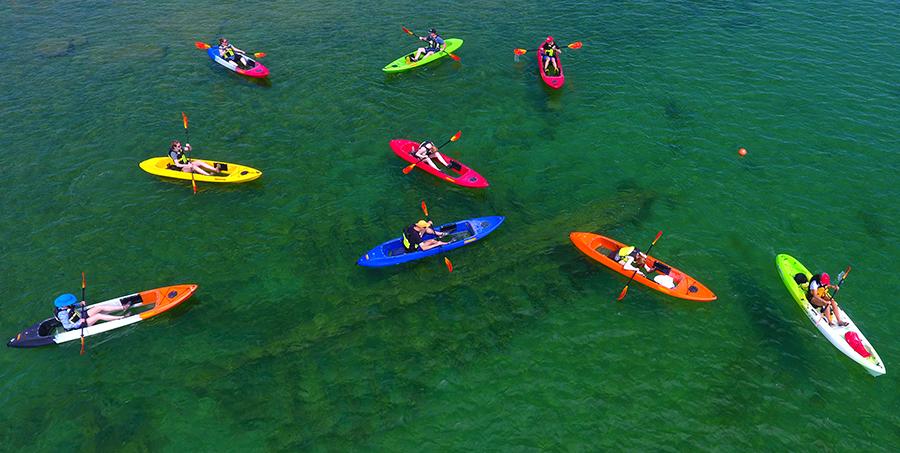 kayak shipwreck tour door county